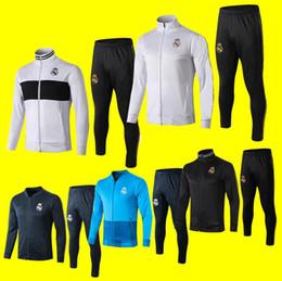 $enCountryForm.capitalKeyWord NZ - New Real Madrid tracksuit 2019 2020 Modric soccer jogging jacket Bale 19 20 HAZARD training suit Football Training suit