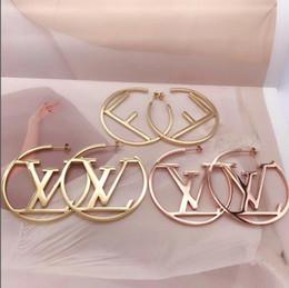 Big diamond hoop earrings online shopping - SALE Hot fashion Jewelry letter Earrings christmas gift For women girls hyperbole big large cm circle letter hoop Earring