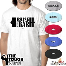 Bar Lift Australia - RAISE THE BAR Gym Rabbit TShirt 6 colors Workout Bodybuilding Fitness Lift D219 Men Women Unisex Fashion tshirt Free Shipping