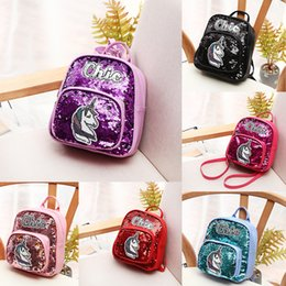 $enCountryForm.capitalKeyWord Australia - Free DHL Trend Reflective Sequin Backpack For Girls Chic Unicorn Pattern Backpack With Zipper Back Pack Ladies Women Casual School Bag M186F