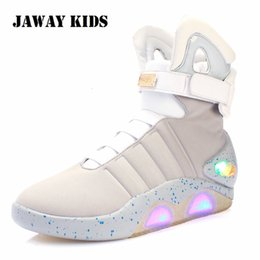 coolest shoes for girls Australia - JawayKids New Led Boots for Men,Women,Boys and Girls USB Rechargeable Glowing Shoes Man Party Shoes Cool Soldier Boots T191015