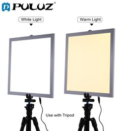 Light Box For Photos Australia - PULUZ 1200LM 15 15in 38x38 cm LED Photography Shadowless Bottom Light Lamp Panel Dimmable for 40cm Photo Studio Shoot Tent Box