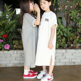 $enCountryForm.capitalKeyWord UK - Brand Girls Long Shirts New 2019 Summer Kids Cotton Tees Children Casual Kid Long Style T-shirt Baby Cute Clothes, #2894