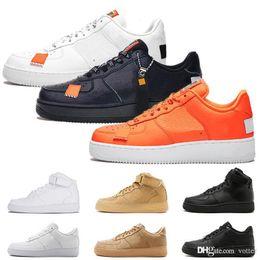 Cheap White Flats For Women Australia - Cheap running shoes for men women sneakers dunk 1 one Low High White Orange Flax mens Trainers casual Skateboard sports shoe