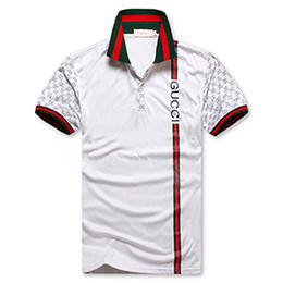 Nueva marca de moda diseñador guapo etiqueta ropa para hombre graffiti Lapel T-shirt Lapel ocio camiseta Lapel polos de los hombres T-shirt gratis entregar