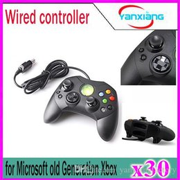 Xbox Console Controller Australia - 30pcs Wired Controller S Type 2 A for Microsoft Old Generation Xbox Console Video Game YX-XBOX-03