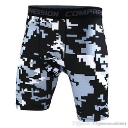 bicycle tights Australia - Camouflage Print Sports Fitness Shorts Tight Quick Drying Running Bicycle Swimming Mens Shorts