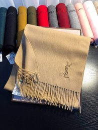 $enCountryForm.capitalKeyWord NZ - 2018 Fashion Winter Top Qualtiy Unisex 14 Colors 100% Cashmere Designer Scarf Women and Men Luxury Classic Cashmere Scarf