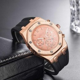 Discount royal offshore watches - 2019 New mens watch royal oak offshore series 26470SO watch luxury sports fashion watch quartz watches rubber strap