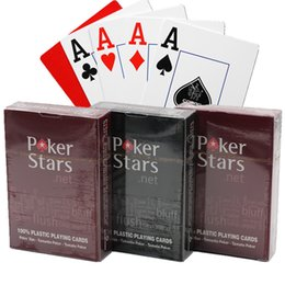 board cards NZ - Wholesale-Texas Hold'em Plastic Playing Card Game Poker Cards Waterproof And Dull Polish Poker Stars Board Games SC134