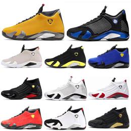 $enCountryForm.capitalKeyWord Australia - 2019 New 14 14s Candy Cane Black Toe Fusion Varsity Red Suede Men Basketball Shoes Last Shot Thunder Black retro Yellow DMP Sneakers
