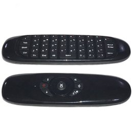 Chinese  C120 2.4G air mouse Rechargeable Wireless remote control Keyboard for Android TV Box Computer English Version manufacturers