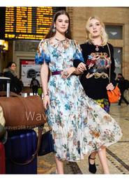 Summer Street Fashion Vintage Dresses Australia - Brand Designer Luxury Panelled Runway Dresses 2019 Spring Summer High Street Fashion Floral Print Boho Style Short Sleeve Maxi Party Gowns