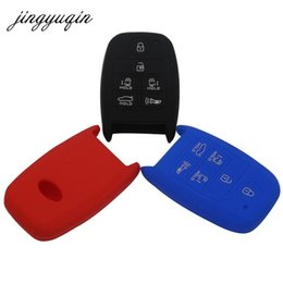 kia remote cover NZ - jingyuqin Silicone Skin Key fob Case for KIA Grand Carnival Sorento 2016 Sedona 6 Button Smart Remote KeyLess Protect Cover