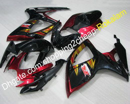 Plastic Motorcycle Fairings Australia - K6 06 07 Sport Motorcycle Fairing For Suzuki GSXR600 GSX-R750 2006 2007 GSXR-600 ABS Plastic Body Fairings Kit Popular (Injection molding)