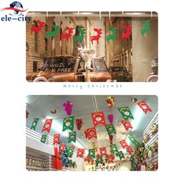 5 pz Decorazioni di natale Pendenti appesi Bunting Garland Pull Bandiera 2018 Banner Pennant Fai Da Te Albero di Natale Deer Casa Navidad Decor