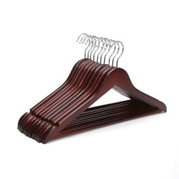 $enCountryForm.capitalKeyWord Australia - Vintage Wooden Clothes Hangers Coat Garment Suit Shirt Trouser Wood Hanger Drying Racks Nets Home Store Storage Rack for Clothing Store Home
