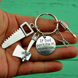 Wrenches Tool Key Chains Australia - Builder gift,Tools Key Chain,Handyman Keychain,Father keychain, wrench key ring,carpenter, Miniature Tools Keychains,pliers scre