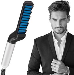 Perms For Hair Australia - Men Quick Beard Straightener Comb Multifunctional Hair Curler Straightening Permed Clip Comb Styler Electric Hair Tool for Men