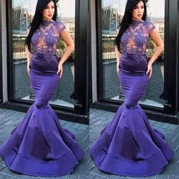 hot sexy girls red dress Canada - Lavender Prom Dresses Appliques Mermaid Woman Illusion Prom Dress Hot Girl Lady Sexy Graduation Homecoming Formal Maxi Gowns
