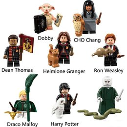 Harry Potter Blocks Australia - Harry Potter Hermione Granger Dobby Ron Weasley Voldermort Cho Chang Draco Malfoy Dean Thomas Mini Action Figure Toy Building Block Bricks