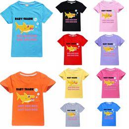$enCountryForm.capitalKeyWord Australia - 10styles baby shark t-shirt short top Clothes Boys Shark Summer T-shirt 3D Printed Tops Cartoon Casual Shirts Short Sleeve Top FFA2264