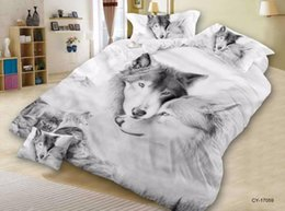 bedsheets bedding Australia - BEST.WENSD wolf lions tiger hello kittybed covers and comforters queen bed set Animal Home textile bedspread bedsheets edredom