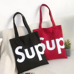 Fashion Sup Canvas Sac à main Sac à bandoulière Version coréenne de l'art japonais et coréen Sac d'étudiant simple DHL gratuit en Solde