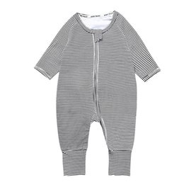 kids long jumpsuit Australia - Baby Clothes Rompers Girls Boys Jumpsuits Sleepsuit Bodysuit Cotton Long Sleeve Striped Long Pants Jumpsuit Kids Clothing X39