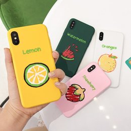 Plastic Fruit Green Apples NZ - Applicable small fresh XSM strawberry net red fruit iPhone7Plus mobile phone shell Apple 6s silicone watermelon all-inclusive