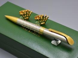 $enCountryForm.capitalKeyWord Australia - Best Christmas Gift Set - High quality Rlx Branding Metal Ballpoint pen and French Man Cufflink Jewelry Cuff links with Luxury Box Packing