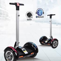 Hoverboard Scooter électrique Haut-parleur Bluetooth Led à distance équilibrage clé auto scooter nouveau 10inch Trottinette en Solde