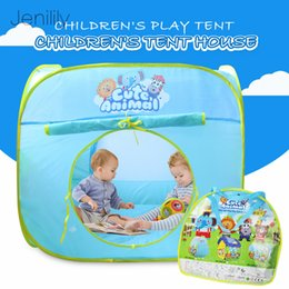 outdoor girls tent 2019 - Foldabled Play Tent Play House for Boys Girls Indoor Outdoor Teepee Baby Game Tent Gift Toys for Children discount outdo