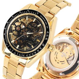 $enCountryForm.capitalKeyWord Australia - Silver Skeleton Mechanical Watch Stainless Steel Automatic-self-winding Mechanical Watches Exquisite Luminous Hands for Men Women