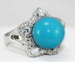 $enCountryForm.capitalKeyWord Australia - Jewelryr Jade Ring 12MM Beads Red Grey Brown Pink Blue green South Sea Shell Jewelry Ring Free Shipping