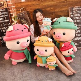 Discount green color dolls - Newly Plush Toys Adorable Piggy Plush Doll Soft Stuffed Pig Dolls Home Decor Gift