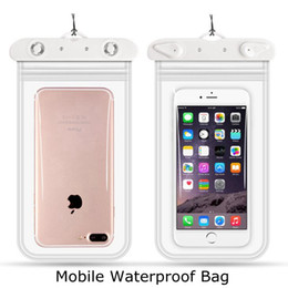 free christmas mobile UK - Waterproof Mobile Phones Handbag Portable Bag pvc Transparent Outdoor diving swimming mobile phone bag free shipping