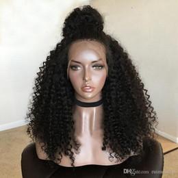 Malaysian Kinky Curly Full Lace Wig Australia - Human Hair Wigs Lace Front Brazilian Malaysian Kinky Curly Hair Full Lace Wig Remy Virgin Hair Lace Front Wigs For Black Women