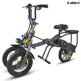 fastest bicycles Canada - Daibot Fast Electric Scooter 3 Wheels Electric Bicycle 14 Inch 48V 350W One Button Portable Folding Bike For Adults