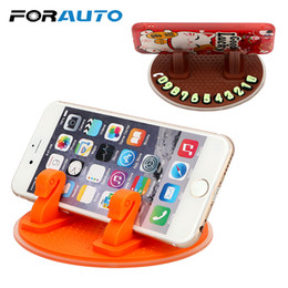 number plates plastic NZ - FORAUTO Phone Holder Car Temporary Parking Card Phone Number Parking Plate Dashboard Sticky Pad Car-styling