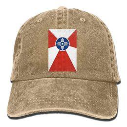 $enCountryForm.capitalKeyWord UK - 2019 New Custom Baseball Caps Flag of Wichita Kansas Trend Printing Cowboy Hat Fashion Baseball Cap for Men and Women Black