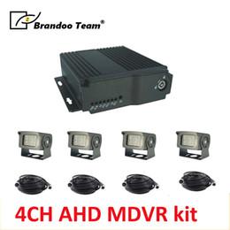 $enCountryForm.capitalKeyWord Australia - Realtime motion detection 4CH HD mobile vehicle car bus MDVR kit +4pcs 1080P camera+4pcs 5m video cable