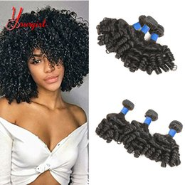 Natural Machines Australia - Peruvian Romantic Rose Curly 100% Human Virgin Hair Weave Bundles Natural Color Machine Double Weft Weavy Curly Hair Extensions