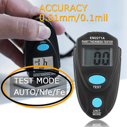 Thickness car online shopping - Newest Mini Automobile Thickness Gauging LCD Digital Painting Thickness Meter Car Coating Gauge Tester Measure Tools