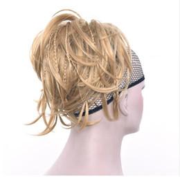 Hair Bun Braided NZ - Women Synthetic Hair Hairband Scrunchie Hair Bun Chignon High Temperature Fiber Braid Hair Donut Roller Headband