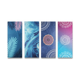 $enCountryForm.capitalKeyWord UK - Painted Yoga Mat Towel 163*63cm Fancy Yarn Yoga Blanket Non-slip Absorbent Dance Towel For Children Adult Pilates Mat Cover