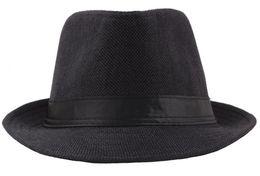 Sailor Hat Women UK - wholesale 10pcs lot Pure color Summer flax hat dad jazz caps middle-aged men's breathable sunshade hat