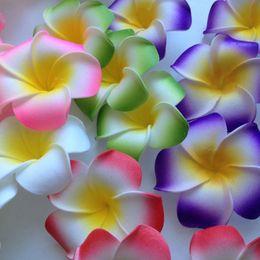 $enCountryForm.capitalKeyWord Australia - 10pcs lot Plumeria Hawaiian Pe Foam Frangipani Artificial Flower Diy Wreath Headdress Flowers Wedding Decoration Party Supplies