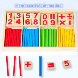 teaching aids for year UK - Montessori Toys Math Educational Wooden Toys for Children Early Learning Puzzle Kids Number Counting Sticks Teaching Aids