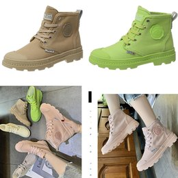 korean rubber shoes trends UK - Candy high top canvas shoes for women in summer breathable new Korean Martin boots leisure British women's shoes trend Designer Size 35-40